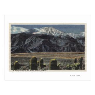 Devil's Garden View of Mt. San Jacinto # 2 Postcard