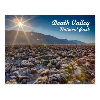 Devil's Golf Course in Death Valley National Park Postcard