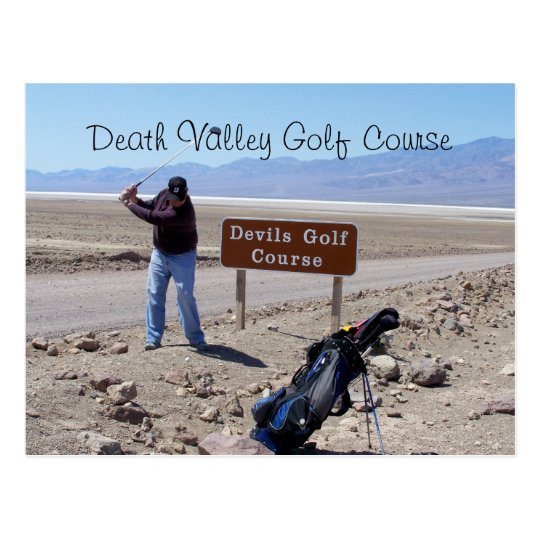 Devil's Golf Course, Where's My Ball? Death Valley Postcard