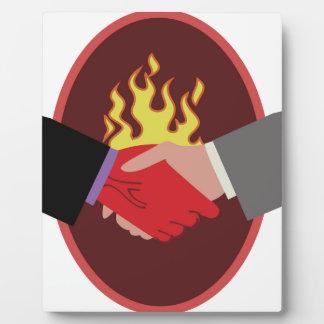 Devils Handshake Display Plaque