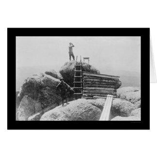 Devils Head Fire Lookout Station, CO 1914 Card