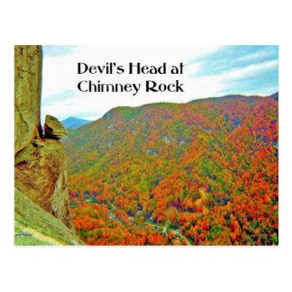 Devil's Head Rock Formation over Chimney Rock Postcard