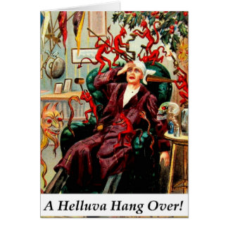 Devils Helluva Hang Over Drinking Party Card