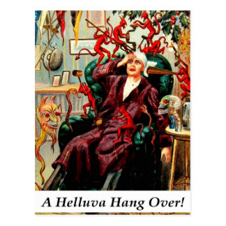 Devils Helluva Hangover Drinking Party Invite Card