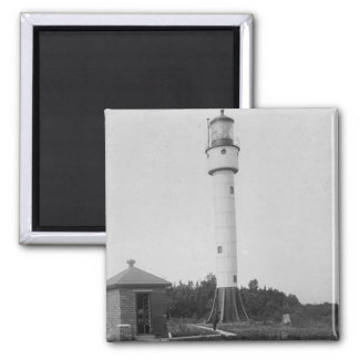 Devils Island Lighthouse 2 Inch Square Magnet
