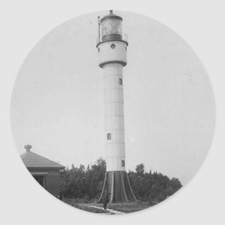 Devils Island Lighthouse Classic Round Sticker