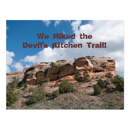 Devils Kitchen Trail (Colorado Ntl. Mont.)Postcard Postcard