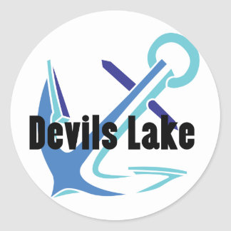 Devils Lake Anchor Classic Round Sticker