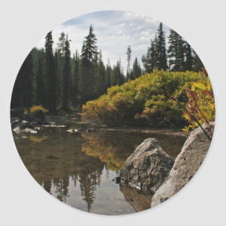 Devils Lake, Bend, Oregon Round Stickers