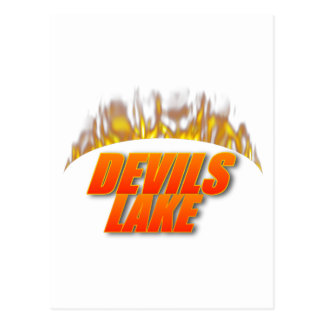 Devils Lake Fire Postcard