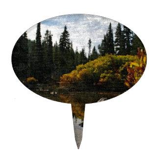 Devils Lake, Oregon Art Cake Topper