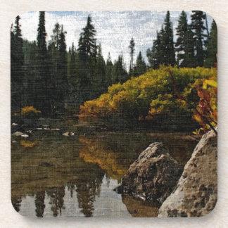 Devils Lake, Oregon Art Beverage Coaster
