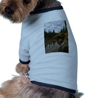 Devils Lake, Oregon Art Dog T-shirt