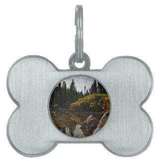 Devils Lake, Oregon Art Pet ID Tag