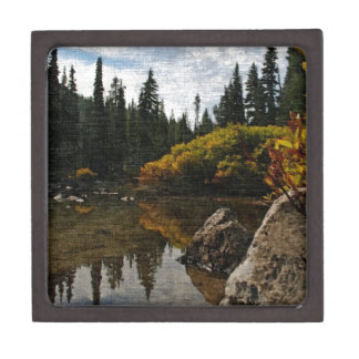 Devils Lake, Oregon Art Premium Keepsake Box