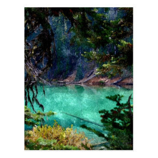 Devils Lake, Oregon Artwork Postcard