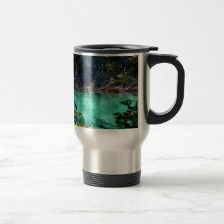 Devils Lake, Oregon Artwork Travel Mug