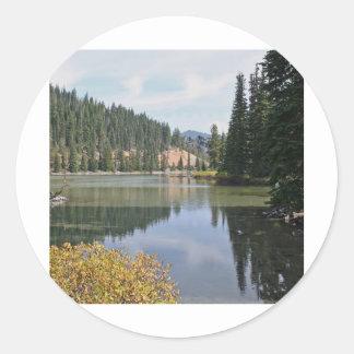 Devils Lake, Oregon Round Sticker