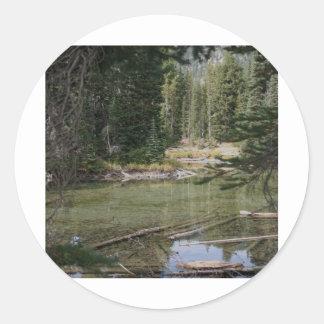Devils Lake, Oregon Round Stickers