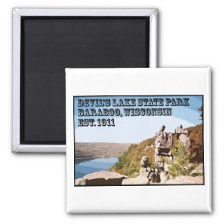Devil's Lake State Park 2 Inch Square Magnet