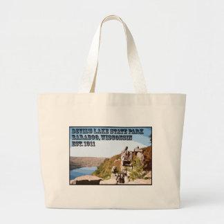 Devil's Lake State Park Large Tote Bag