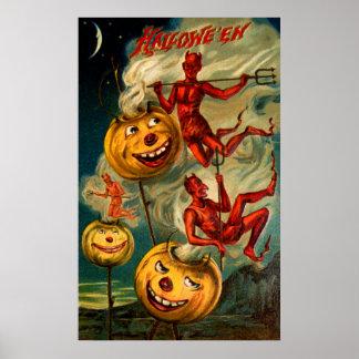 Devils Lighten Up Jack O'Lanterns Print