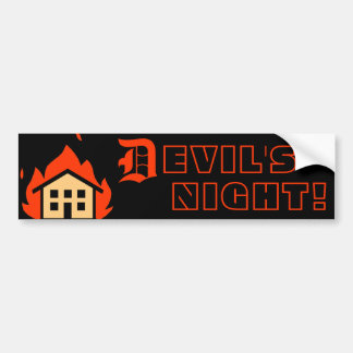 DEVIL'S NIGHT - DETROIT BUMPER STICKER