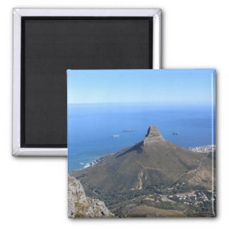 Devil's Peak Mountain, Cape Town 2 Inch Square Magnet