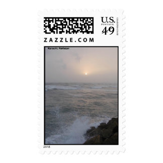 Devil's point, Karachi, Pakistan Stamp
