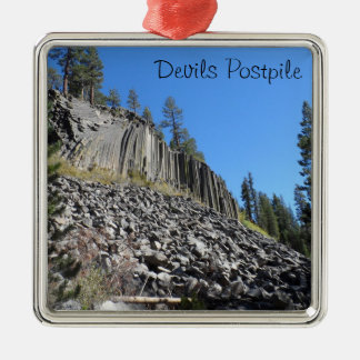 Devils Postpile National Monument Metal Ornament