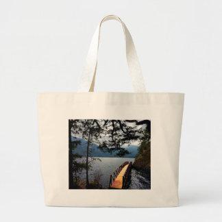Devils Punch Bowl Olympic National Park Large Tote Bag