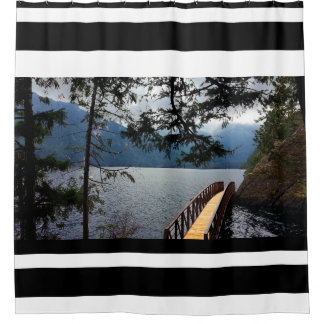 Devils Punch Bowl Olympic National Park Shower Curtain