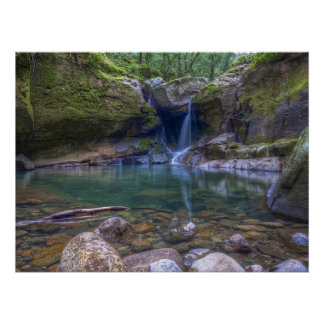 Devil's Punchbowl Waterfall Poster