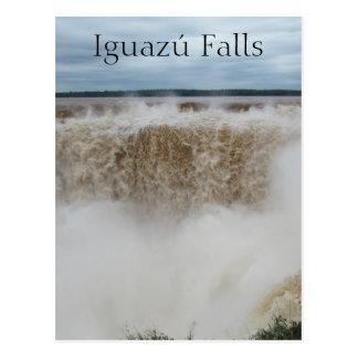 devils throat iguazu falls postcard