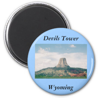Devils Tower 2 Inch Round Magnet