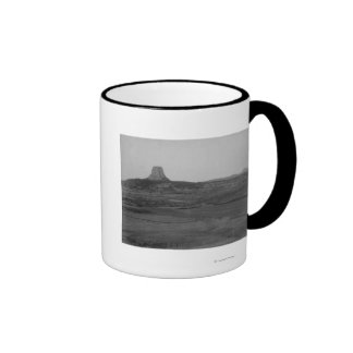 Devil's Tower 2 Miles Distant with Ranch in the Ringer Coffee Mug