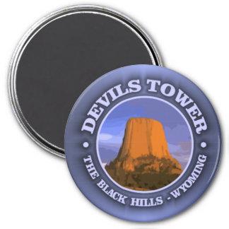 Devils Tower 3 3 Inch Round Magnet