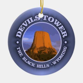 Devils Tower 3 Ceramic Ornament