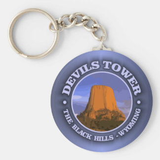 Devils Tower 3 Keychain