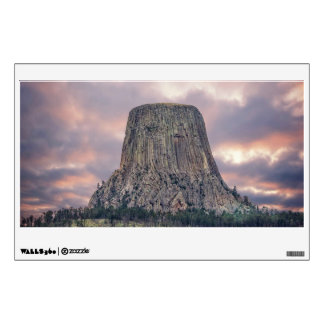 Devils Tower Amazing Clouds Wall Decal