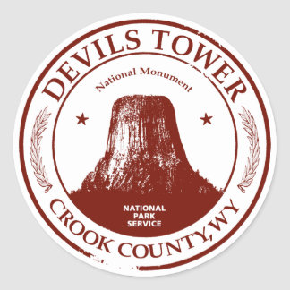 Devils Tower Classic Round Sticker