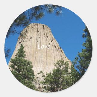 Devils Tower Classic Round Sticker