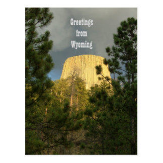 Devils Tower - Greetings from Wyoming Postcard