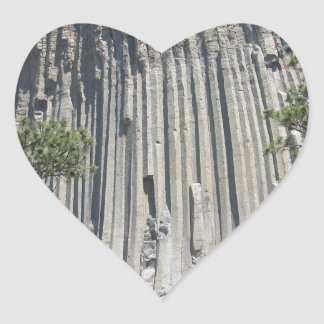 Devils Tower Heart Sticker