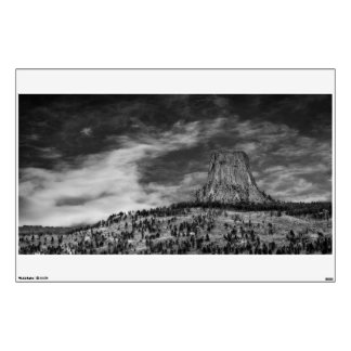 Devils Tower in Wyoming Black and White Wall Sticker