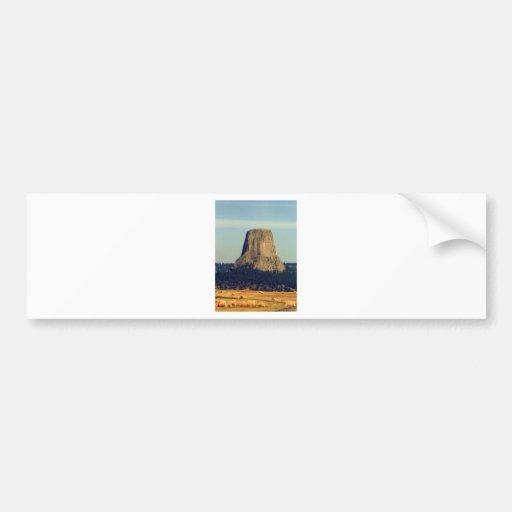 Devils Tower  in Wyoming Bumper Sticker