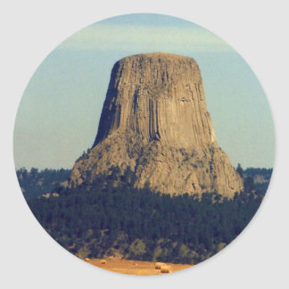 Devils Tower  in Wyoming Classic Round Sticker