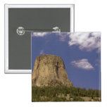 Devils Tower in Wyoming Pinback Buttons