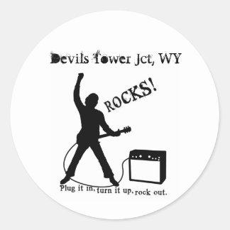 Devils Tower Jct, WY Classic Round Sticker