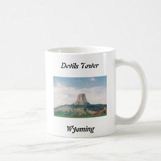 Devils Tower Classic White Coffee Mug
